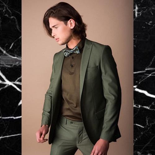 עניבה ירוקה לחליפת חתן