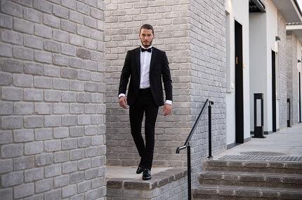 חליפה מעוצבת שחורה לחתן