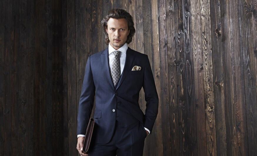 חליפת אלגנט כחולה לגבר