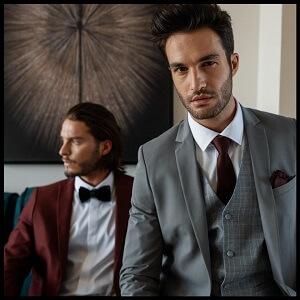 חליפת טוקסידו אפורה לגבר