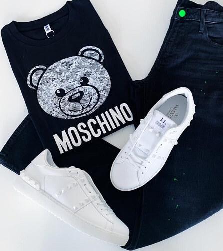 חולצה כחולה לגבר MOSCHINO