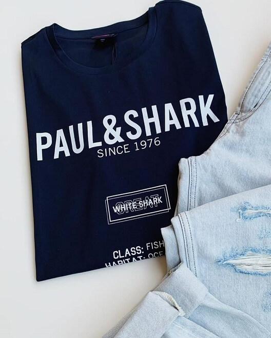 חולצת מותג PAUL AND SHARK כחולה לגבר